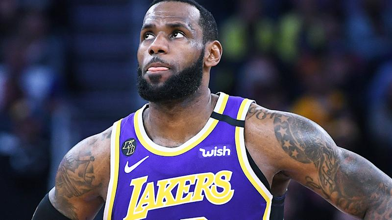 LeBron James, pictured playing for the Lakers, has spoken about the cheating scandal engulfing Major League Baseball.