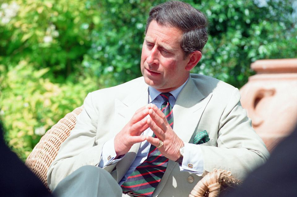 Prince Charles, is interviewed by members of the welsh press, regrading the upcoming 25th anniversary of his Investiture of the Prince of Wales (01/07/1969), pictured at his private residence of Highgrove House, Doughton, Gloucestershire, Thursday 16th June 1994. (Photo by Neil Bennett/Mirrorpix/Getty Images)