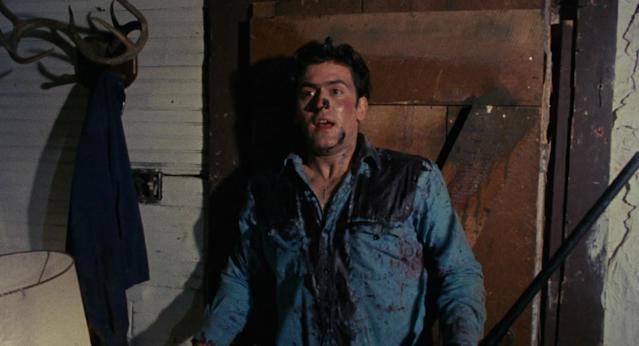 Bruce Campbell in The Evil Dead