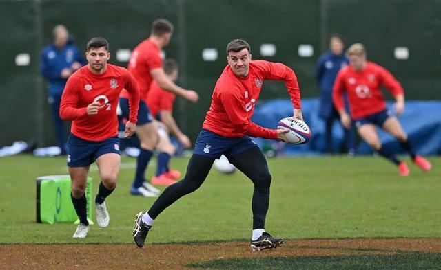 England's George Ford training at the Lensbury Hotel