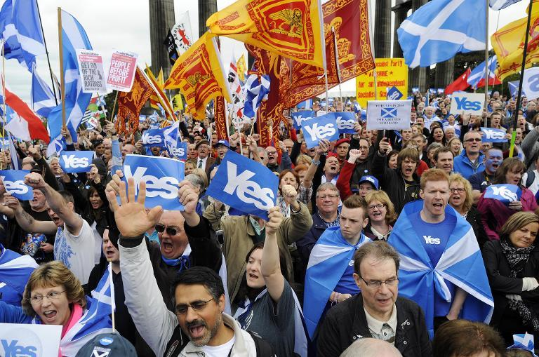 Over 45 percent of Scottish voters were in favour of independence from Britain (AFP Photo/Andy Buchanan)