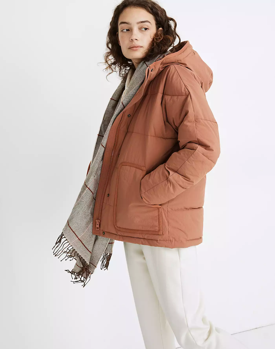 """<br><br><strong>Madewell</strong> Holland Quilted Puffer Parka, $, available at <a href=""""https://go.skimresources.com/?id=30283X879131&url=https%3A%2F%2Fwww.madewell.com%2Fholland-quilted-puffer-parka-MB865.html%3Fdwvar_MB865_color%3DBR6949%26cgid%3Dwomens-megafolder-bestsellers%23gridtype%3Dsix-up%26start%3D7"""" rel=""""nofollow noopener"""" target=""""_blank"""" data-ylk=""""slk:Madewell"""" class=""""link rapid-noclick-resp"""">Madewell</a>"""