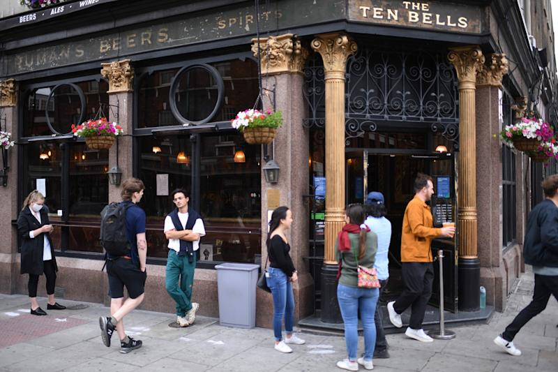 Pubs and restaurants are preparing to throw open their doors in England first thing on Saturday morning (AFP via Getty Images)
