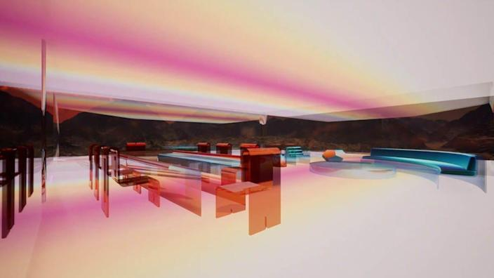 Images from Krista Kim's all-digital Mars House, a calming virtual space that recently sold for over $500,000 as an NFT (non-fungible token).