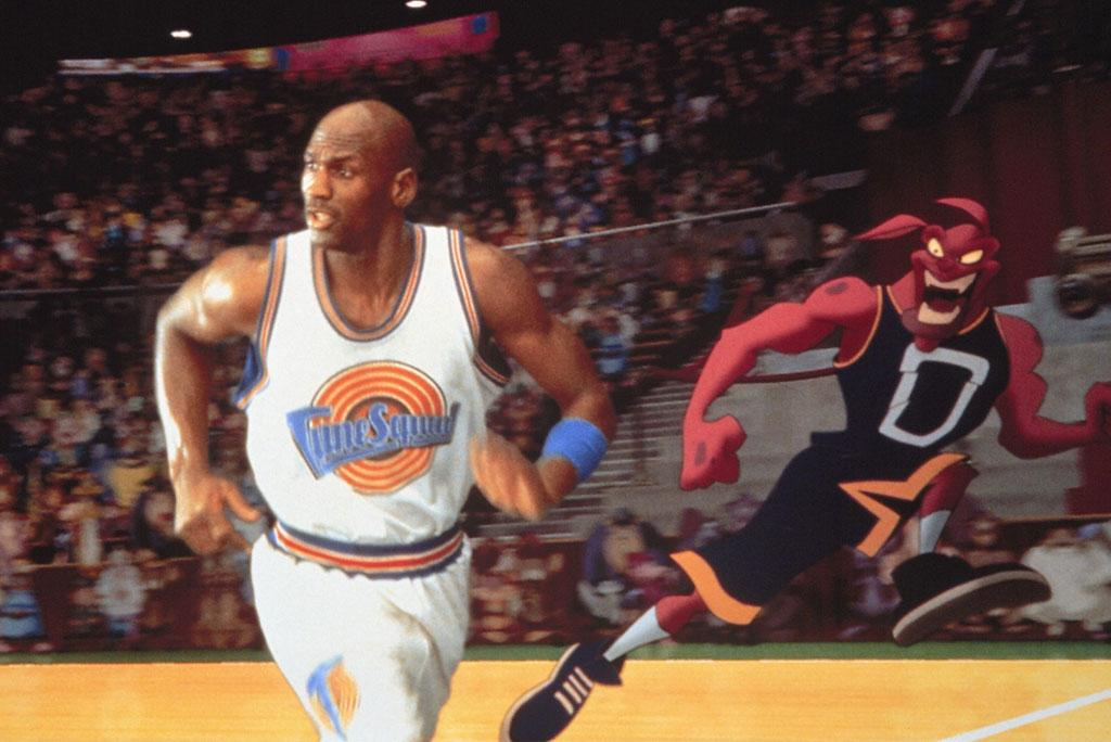 "<b>Starting Shooting Guard:</b><br>Michael Jordan (Michael Jordan) in ""Space Jam"" (1996) -- His Airness remains the greatest, onscreen or off, in this galaxy and beyond."