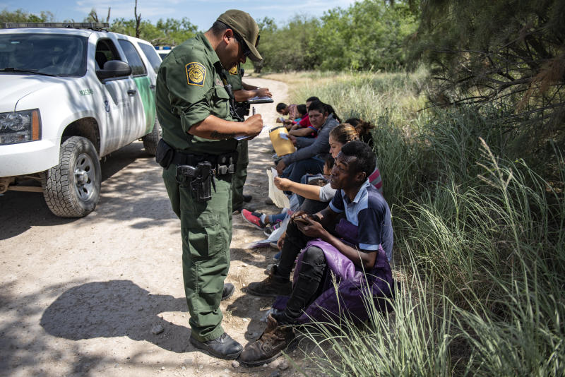 Border Patrol agents collect information