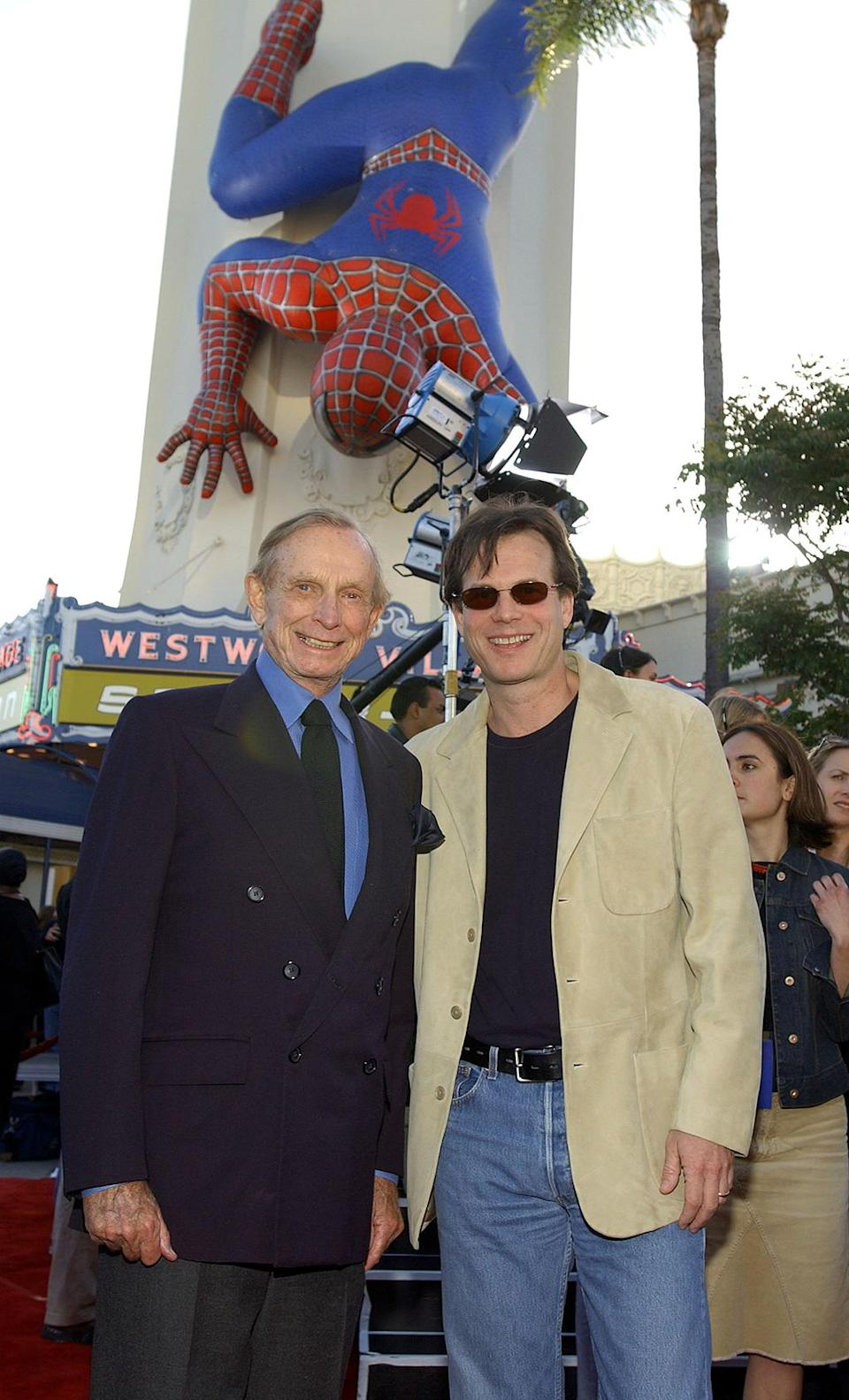 <p>Bill Paxton accompanied his father, who played Osborn family butler Bernard Houseman in the three Raimi-directed <em>Spider-Man</em> films. (Photo: Vince Bucci/Getty Images) </p>