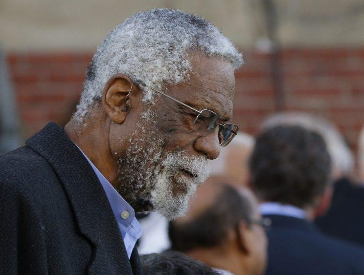 Bill Russell kept his Lifetime Achievement Award acceptance speech short and to the point. (AP)