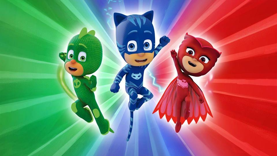 "<p>Kids love superheroes, but not every parent loves all of the punching and blasting that superheroes do. Enter the PJ Masks, who are three 6-year-olds who are normal kids by day, but heroes by night, taking part in some family-friendly adventures. </p><p><a class=""link rapid-noclick-resp"" href=""https://www.netflix.com/title/80187223"" rel=""nofollow noopener"" target=""_blank"" data-ylk=""slk:WATCH NOW"">WATCH NOW</a></p>"
