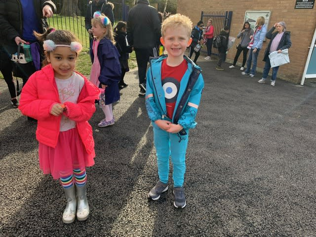 Pupils and staff smiled as they entered the school gates for their last day at school before indefinite closure due to coronavirus