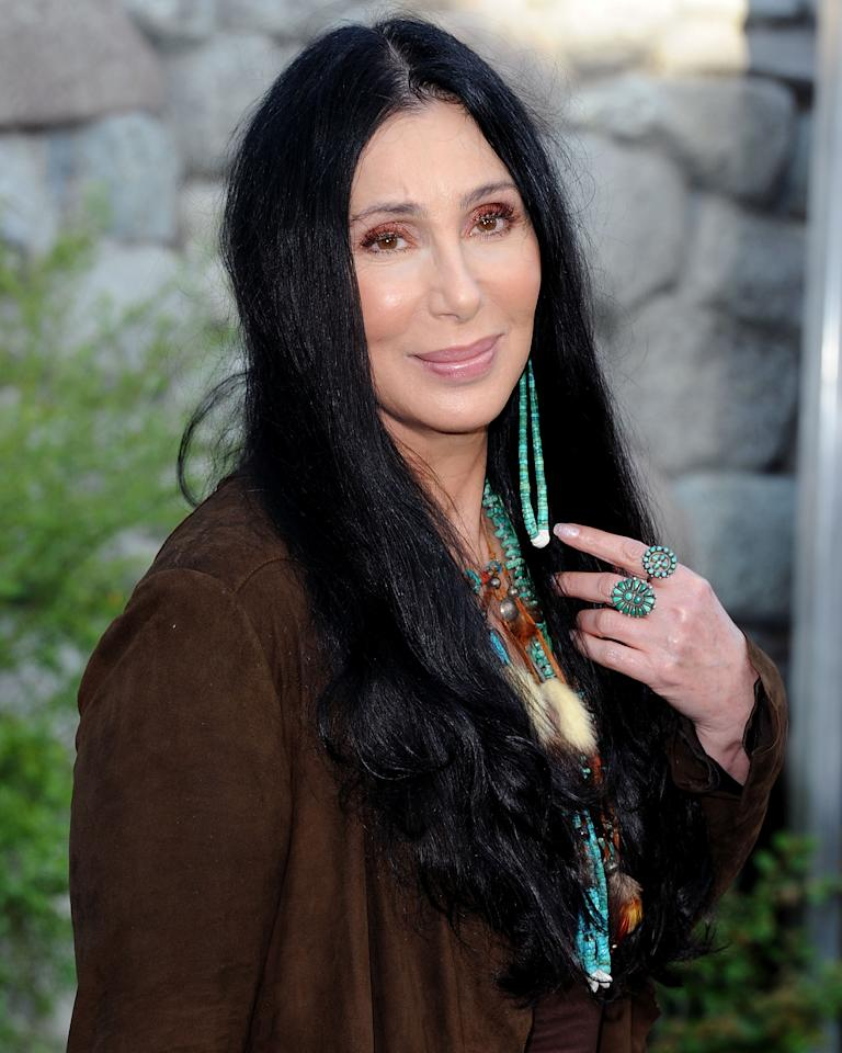Cher<br><br>Age: 65<br><br>Achievements: Cher is the only entertainer in history to have been awarded an Academy Award, a Grammy Award, an Emmy Award, a Golden Globe and a Cannes Film Festival Award.<br><br>(Photo by Jon Kopaloff/FilmMagic)