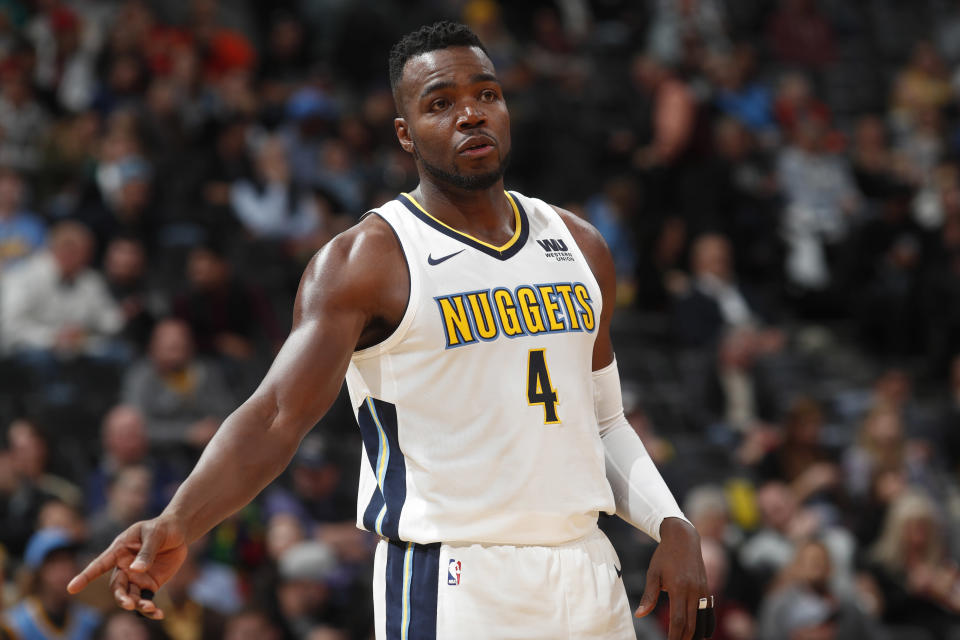 Paul Millsap is in his first season with the Nuggets. (AP)
