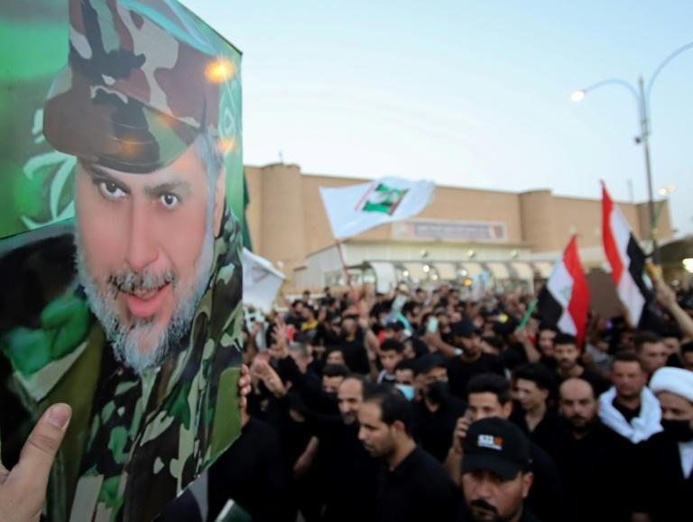 The biggest bloc in the assembly has been the Sadrist camp of populist Shiite cleric Moqtada Sadr who opposes all foreign influence in Iraq (AFP/Ali NAJAFI)