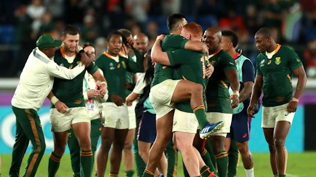 Handre Pollard put in a clinical display as his late penalty sent South Africa through to the Rugby World Cup final at Wales' expense.