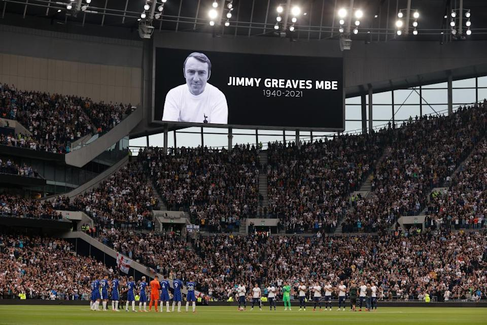 A tribute to Jimmy Greaves before Tottenham's game with Chelsea.