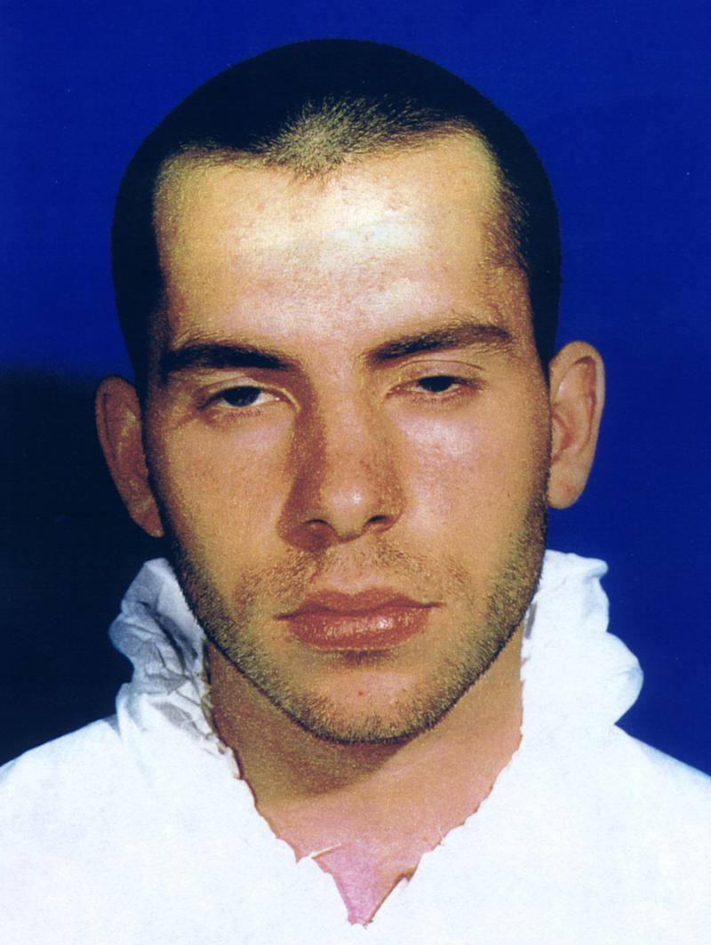 Police hand-out photograph of convicted nail-bomber David Copeland, who has been found guilty of three bomb attacks in Soho, Brick Lane and Brixton, June 30. The jury found Copeland guilty of three counts of murder for the deaths of three people who were drinking in the Admiral Duncan pub in Soho when Copeland's bomb went off. AS/ME