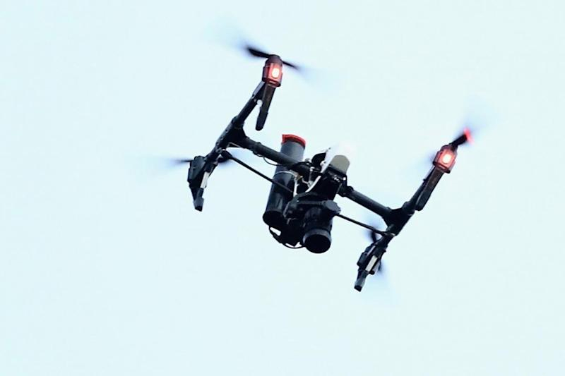 Drone: The incident was 'high risk' according to the report (Getty)