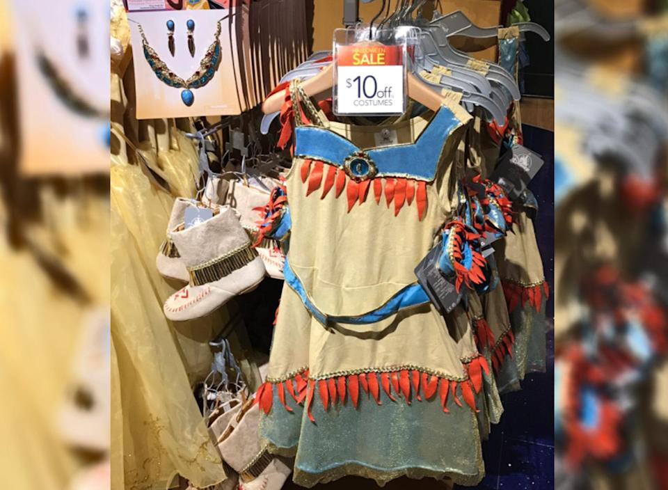 Some find Pocahontas Halloween costumes offensive. (Photo: Fox Spears via Twitter)
