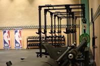 A general overall view of the installation of the weight room as part of the NBA Restart 2020 on July 1, 2020 in Orlando, Florida.