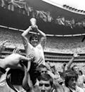 FILE PHOTO: ARGENTINA'S MARADONA LIFTS THE WORLD CUP AFTER MATCH AGAINST WEST GERMANY IN MEXICO.