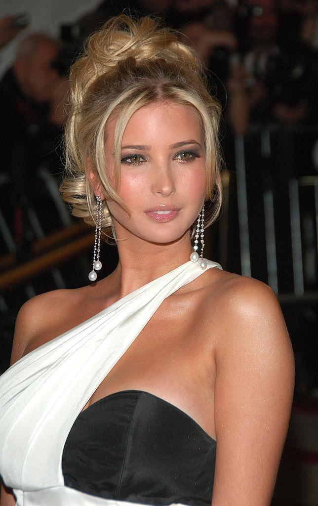 <p>Ivanka attends the Met Gala rocking green-colored contacts, gold eyeshadow, and a curly updo with face-framing wisps. (Photo: Getty Images) </p>
