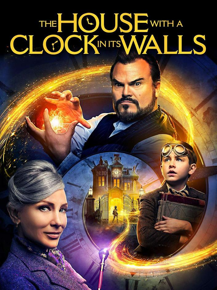 """<p><a class=""""link rapid-noclick-resp"""" href=""""https://www.amazon.com/House-Clock-Its-Walls/dp/B07HCVJQR8/?tag=syn-yahoo-20&ascsubtag=%5Bartid%7C10070.g.3104%5Bsrc%7Cyahoo-us"""" rel=""""nofollow noopener"""" target=""""_blank"""" data-ylk=""""slk:STREAM ON AMAZON"""">STREAM ON AMAZON</a></p><p>Ten-year-old Lewis goes to live with his strange uncle, and quickly learns that he and his neighbor are powerful magicians. When Lewis accidentally awakens the dead, the town becomes a dangerous world of witches, warlocks, and deadly curses. </p>"""