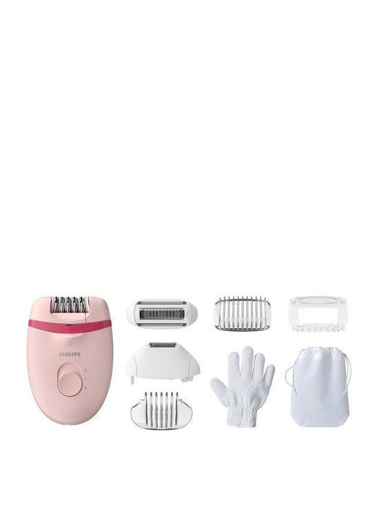 "<p><a class=""link rapid-noclick-resp"" href=""https://www.very.co.uk/philips-satinelle-essential-epilator-corded-hair-removal-with-5-accessories-bre28500nbsp/1600390480.prd"" rel=""nofollow noopener"" target=""_blank"" data-ylk=""slk:SHOP NOW"">SHOP NOW</a></p><p>Not only does this device come with an array of different head options (even one to massage skin post-epilation) but the two-speed device allows you to build up your tolerance so it's not a total shock to the system. </p>"