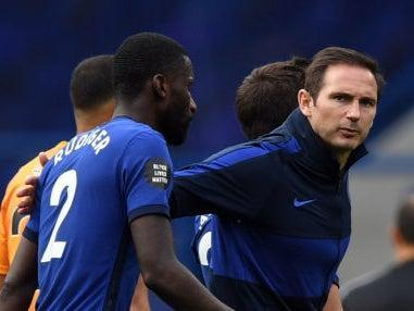 Antonio Rudiger and former Chelsea head coach Frank Lampard (Getty)