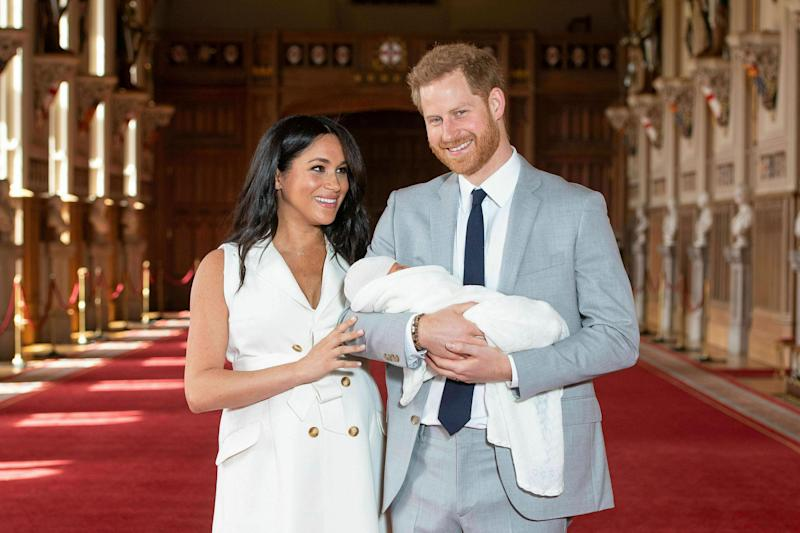 Meghan Markle and Prince Harry introduced their son to the world on Wednesday. More