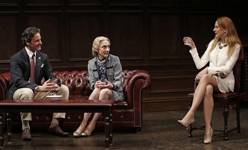 """This theater image released by David Gersten & Associates shows, from left, Peter Rini, Laura Esterman and Marsha Dietlein Bennett in a scene from A.R. Gurney's """"The Old Boy"""", performing off-Broadway at The Clurman at Theatre Row in New York.  (AP Photo/David Gersten & Associates, Carol Rosegg)"""