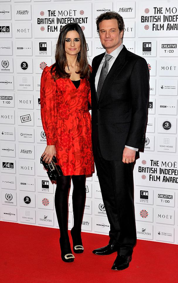 "<a href=""http://movies.yahoo.com/movie/contributor/1800019319"">Colin Firth</a> and wife attend the Moet British Independent Film Awards on December 5, 2010."