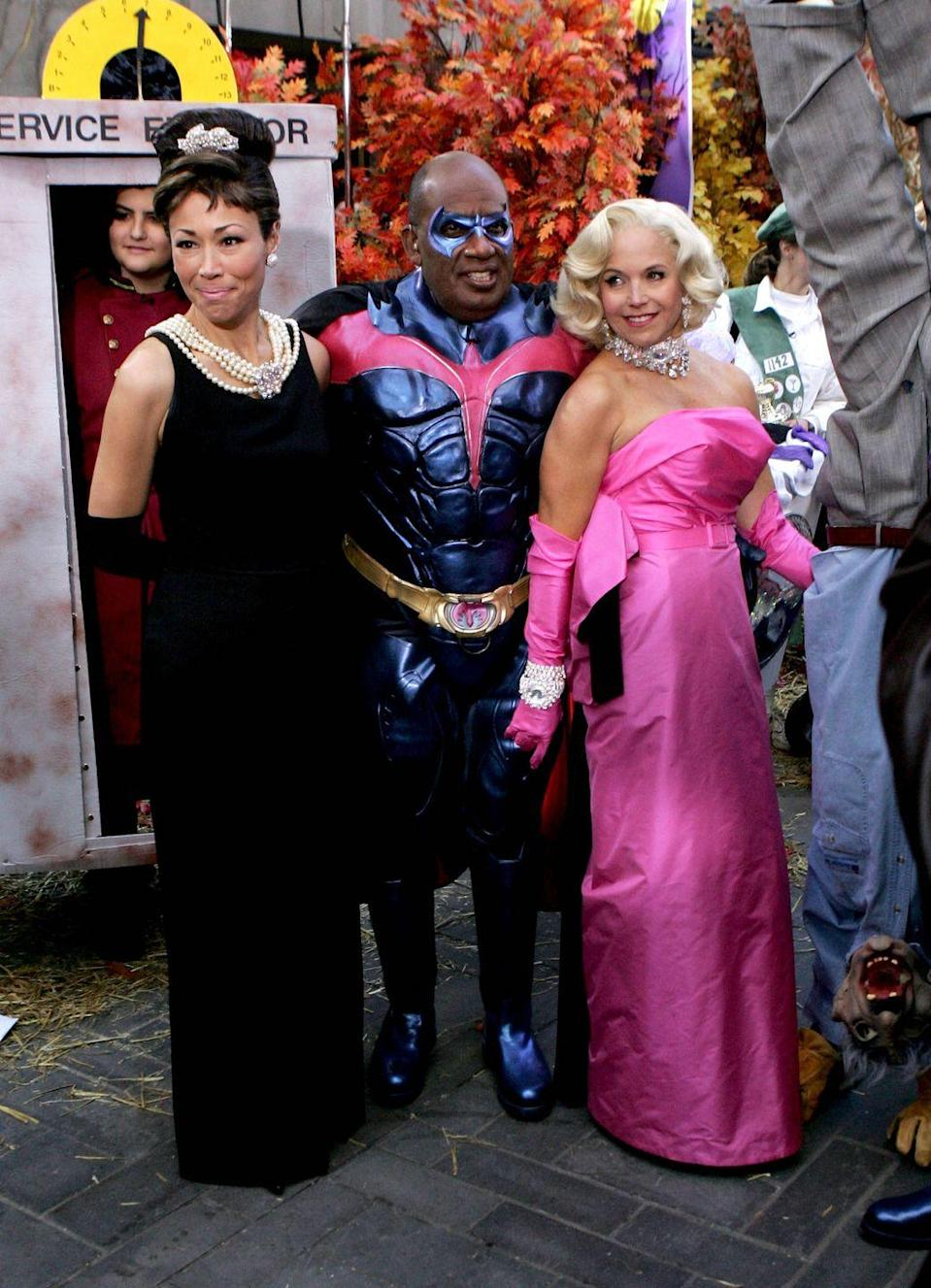 <p>Similar to 2006, the year prior didn't have much of a running theme. With that being said, the ladies of <em>Today</em> (Ann Curry and Katie Couric) both dressed up as iconic beauty legends Audrey Hepburn and Marilyn Monroe. As for Al, he chose to go as Batman's trusty sidekick Robin.</p>