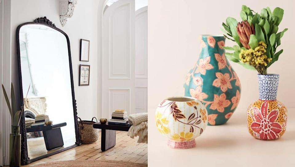 Spruce up your space with these Anthro home goods.