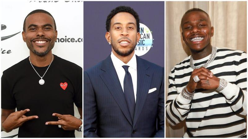 (Left to Right) Lil Duval, Ludacris, DaBaby