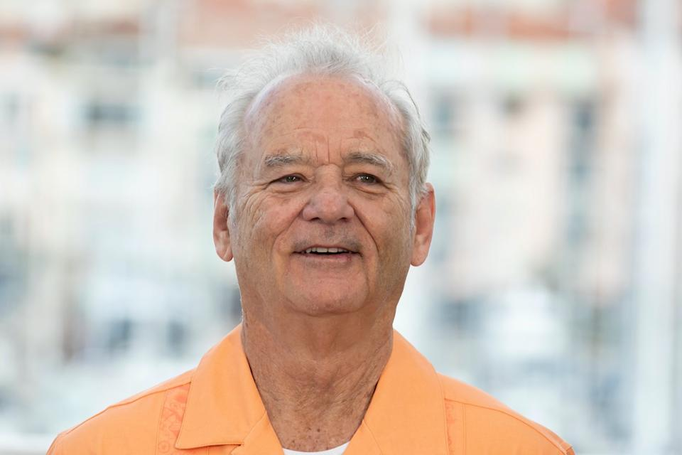 Bill Murray wears orange shirt at the 72nd Cannes Film Festival in 2019