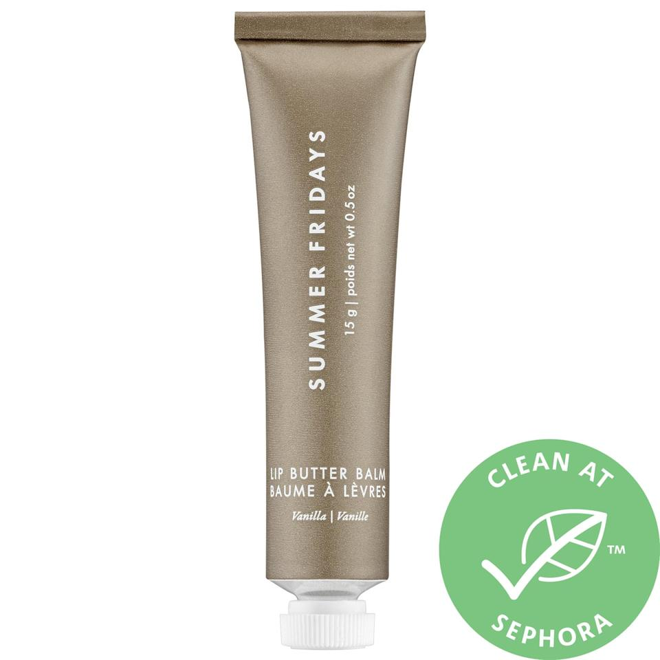 <p>The anytime lip mask <span>Summer Fridays Lip Butter Balm</span> ($22) hydrates with shea and murumuru seed butters, keeps lips soft with nongreasy vegan waxes, and tops things off with a kiss of natural vanilla.</p>