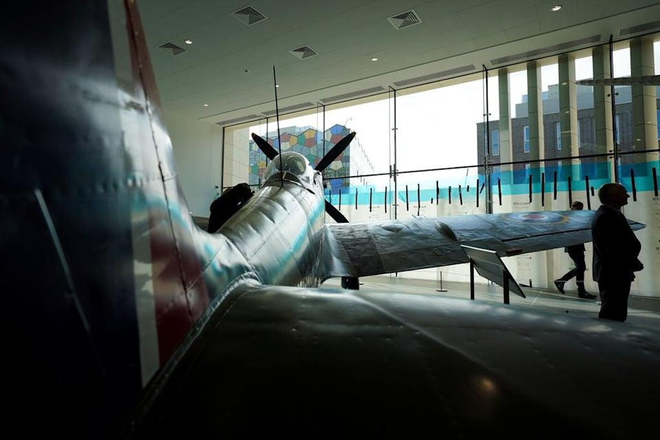 The reconditioned Spitfire will be unveiled the Potteries Museum And Art Gallery in Stoke-on-Trent (Jacob King/PA) (PA Wire)