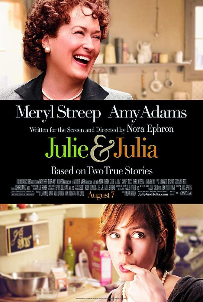 """<p>Before Instagram foodies, there was Julie Powell, a blogger who sought to cook every single recipe in Julia Child's first cookbook (major props, since it's hard enough to get myself to make dinner on a lazy Sunday). The film jumps between Julia's (Meryl Streep) start as a chef and Julie's (Amy Adams) tumultuous New York life.</p><p><a class=""""link rapid-noclick-resp"""" href=""""https://www.netflix.com/title/70112732"""" rel=""""nofollow noopener"""" target=""""_blank"""" data-ylk=""""slk:Watch Here"""">Watch Here</a></p>"""