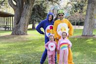 """<p>Give everyone your best Care Bear stare this Halloween with this adorable family costume. Your tummies will be full of love and good cheer this year—not to mention candy!</p><p><strong>See more at <a href=""""https://www.remodelaholic.com/happy-halloween-care-bears/"""" rel=""""nofollow noopener"""" target=""""_blank"""" data-ylk=""""slk:Remodelaholic"""" class=""""link rapid-noclick-resp"""">Remodelaholic</a>.</strong></p><p><a class=""""link rapid-noclick-resp"""" href=""""https://go.redirectingat.com?id=74968X1596630&url=https%3A%2F%2Fwww.walmart.com%2Fip%2FBig-Feet-Pjs-Big-Girls-Kids-Pink-Fleece-Footed-Pajamas-Onesie-Footie-Pajamas%2F121118713&sref=https%3A%2F%2Fwww.thepioneerwoman.com%2Fholidays-celebrations%2Fg32645069%2F80s-halloween-costumes%2F"""" rel=""""nofollow noopener"""" target=""""_blank"""" data-ylk=""""slk:SHOP KIDS FOOTED PAJAMAS"""">SHOP KIDS FOOTED PAJAMAS</a></p>"""