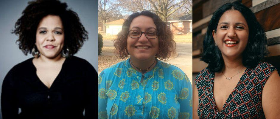 Cara Reedy, left, is a program manager at the Disability Media Alliance Project; Lisette Torres-Gerald is a disability activist; and Meenakshi Das is a software engineer. (Photo: Photos courtesy of Cara Reedy, Lisette Torres-Gerald and Meenakshi Das)
