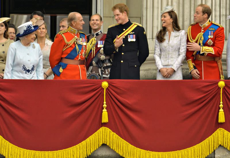 FILE PHOTO: Britain's Royal family attend annual Trooping of the Colour ceremony to celebrate the Queen's official birthday in central London