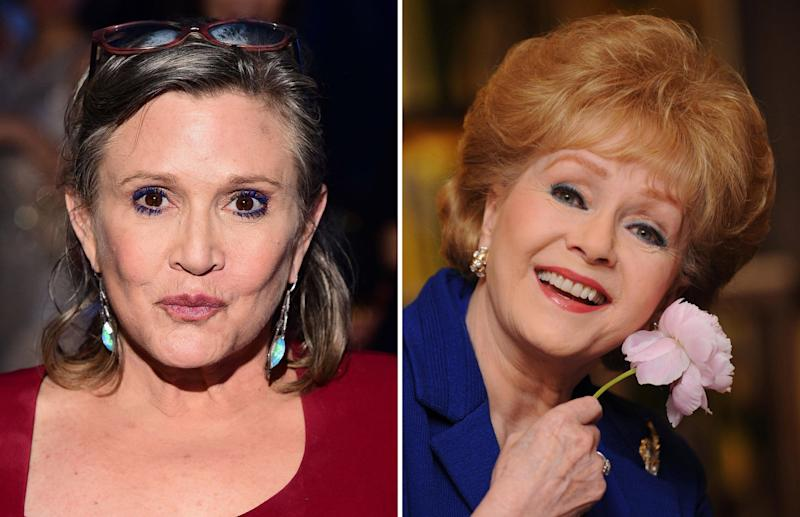 Carrie Fisher (left) and Debbie Reynolds who died just a day apart - PA Wire/PA Images
