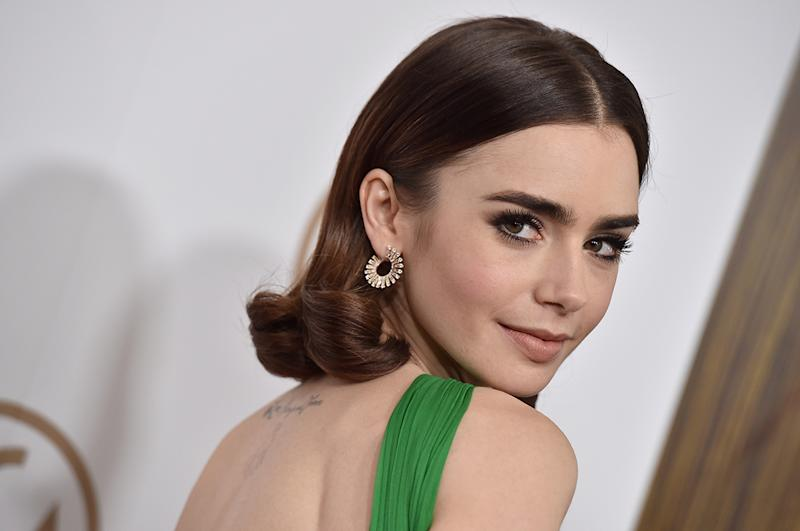 Lily Collins arrives at the 28th Annual Producers Guild Awards at The Beverly Hilton Hotel on January 28, 2017 in Beverly Hills, California. (Photo: Getty Images)