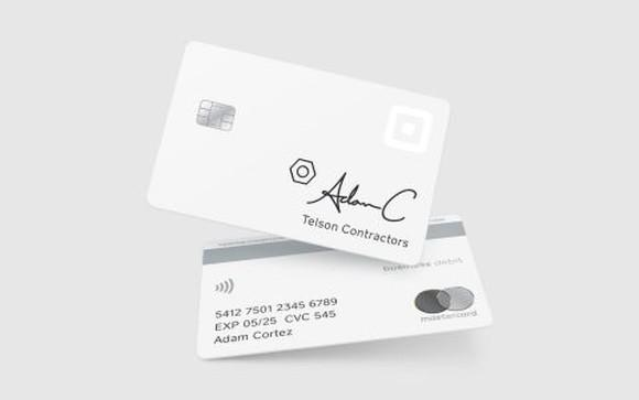 The Square Card front and back.