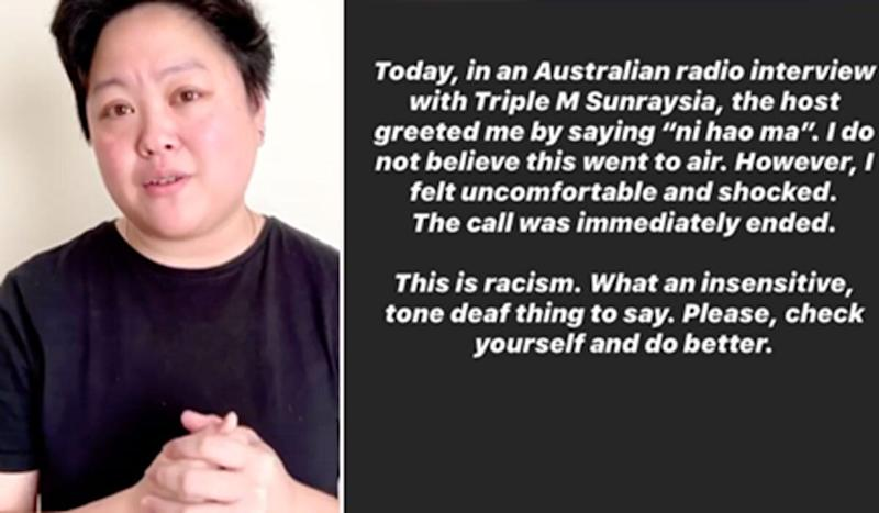 'Check Yourself And Do Better': MaterChef's Sarah Tiong Calls Out Triple M Host's 'Racist' Greeting (Photo: Instagram )