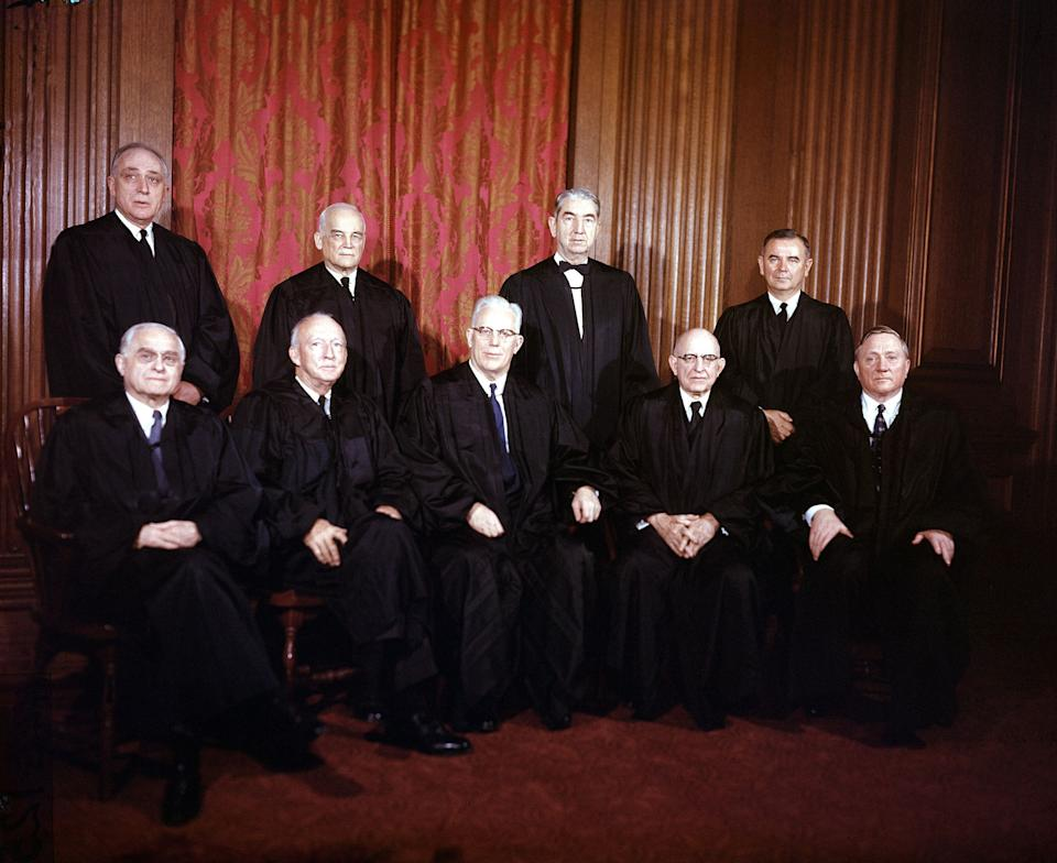 The Supreme Court in 1957 when it ruled on Watkins v. United States. (Photo: ASSOCIATED PRESS)
