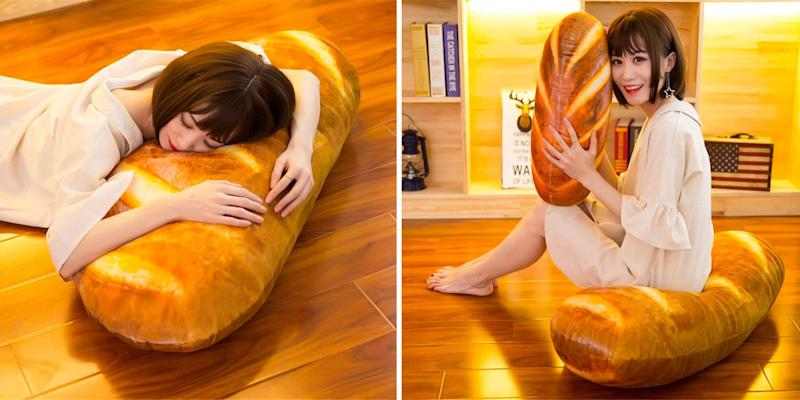 Remarkable This Giant Baguette Pillow Is What Carb Dreams Are Made Of Unemploymentrelief Wooden Chair Designs For Living Room Unemploymentrelieforg
