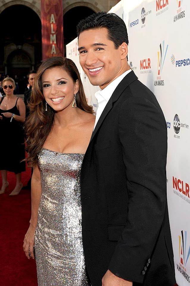 """Both actress Eva Longoria Parker and Mario """"A.C. Slater"""" Lopez are undeniably hot, yet the two (very taken) celebs swear they're just friends. In fact, Eva's said the hunk is like a brother to her. Kevork Djansezian/<a href=""""http://www.gettyimages.com/"""" target=""""new"""">GettyImages.com</a> - September 17, 2009"""