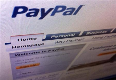 A page from the PayPal website is seen in Singapore