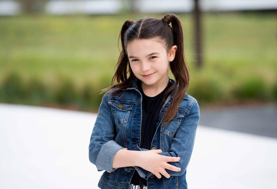 <p>Take your pigtails to the next level with this super sleek pair, just like <strong>Brooklynn Prince</strong>. For even more style, wrap one piece around the elastic. </p>